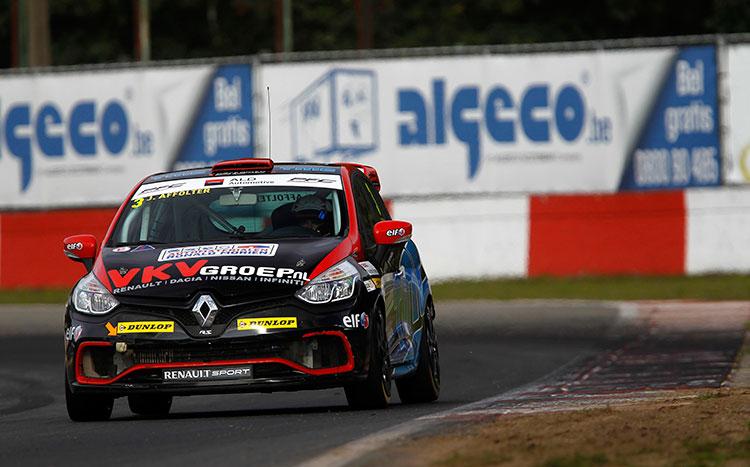 Knap debuut van Joël Affolter bij Certainty Racing Team tijdens Clio Cup Benelux op Zolder