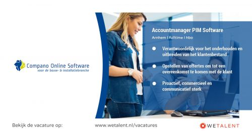 Accountmanager PIM Software afbeelding