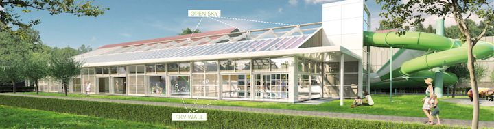 Dagbeeld exterieur met Open Sky  en Skywall aanwijzing1
