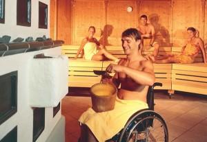 Rolstoelvriendelijkheid sauna's