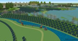 visualisatie van Solarpark De Kwekerij