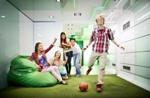 De virtuele voetbal in de Heineken Brand Store