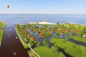 Watervilla's Friese Meren - Vogelvlucht