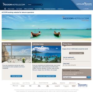 Screenshot van de ACCOR website