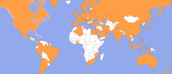 bezoekers komen uit de hele wereld.