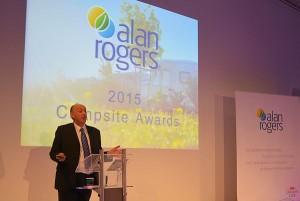 Uitreiking van de jaarlijkse Alan Rogers Awards op de Vakantiebeurs in Utrecht
