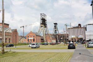 Mijnbouw erfgoed op de site van Be-mine. Geplande locatie voor een nieuw mijnmuseum