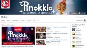 screenshot van het Efteling Youtube kanaal