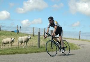 fietser op Texel