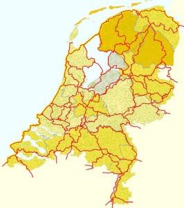 Nederland heeft ruim 30.000 km aan knooppunt- en LF-routes voor fietsers