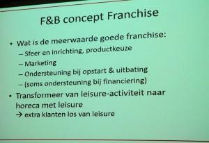 Inpassing franchise F&B