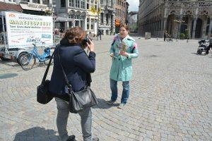 Vlogger van Gezinopreis.nl in actie