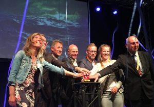 V.l.n.r.: Katja Roose (Bring in the Dutch), Han Polman (CdK Zeeland), Johan Jacobs (RWS), Jaap Kwadijk (Deltares), Jos Vranken (NBTC), Annelous Lammerts (Bring in the Dutch), Toine Poppelaars (Waterschap).