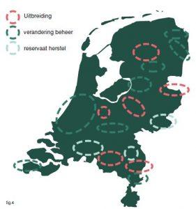 potentiële opties voor nieuw bos (en efficiënter gebruik)
