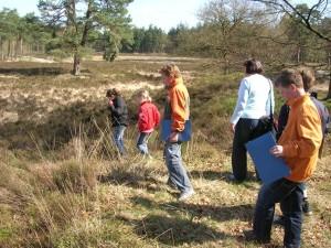 foto van een junior natuurexpeditie op NP De Hoge Veluwe