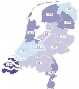 ING Toerisme index. Nederland = 100