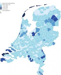 toeristenbelasting per gemeente (bron: cbs)