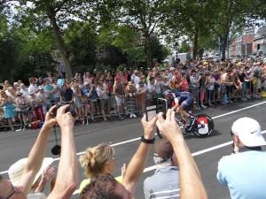Volop enthousiasme tijdens de Tour-proloog in Utrecht.