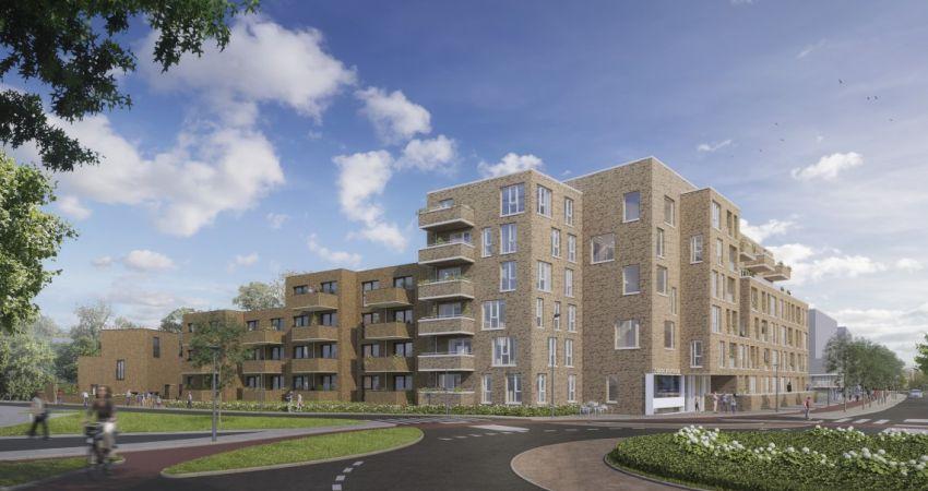 Zuiderspoorflat maakt plaats voor 60 nieuwe woningen in Enschede