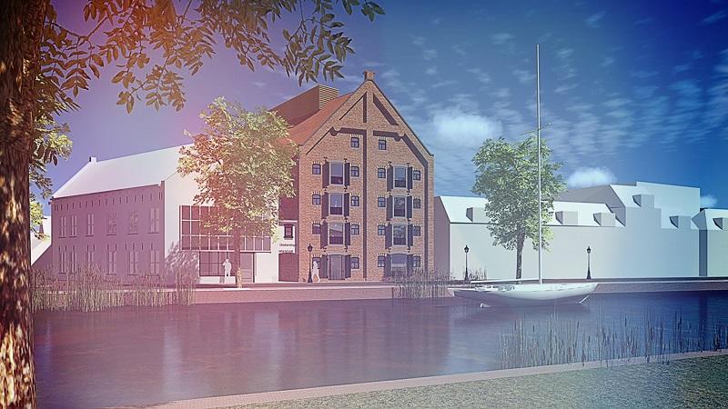 Pakhuis wordt appartementencomplex in Leeuwarden