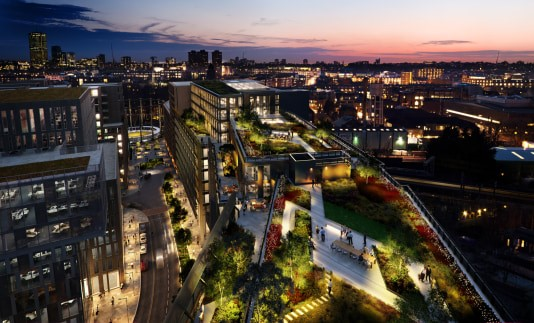 Na retailproject, nu ook kantoorproject voor BAM bij King's Cross