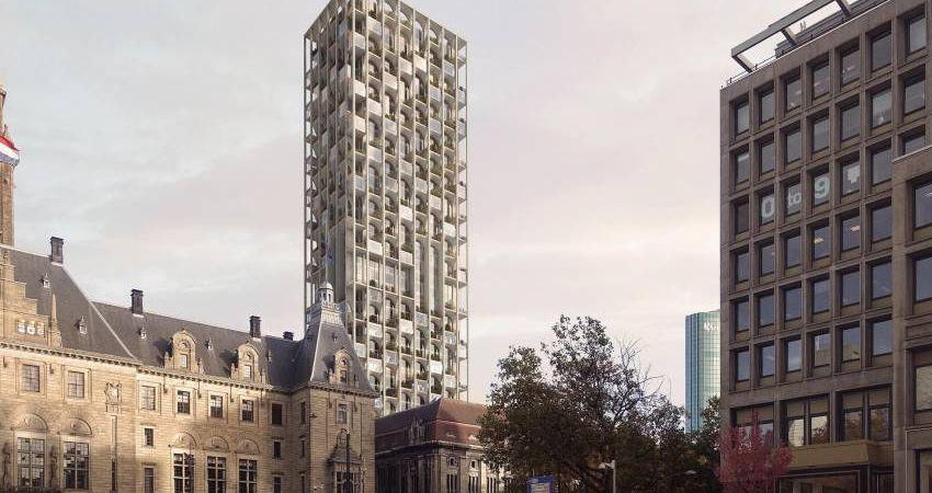Toren van 150 meter op locatie voormalig postkantoor Rotterdam