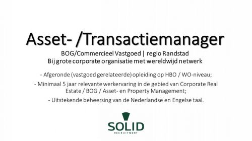 Asset- /Transactiemanager BOG  afbeelding