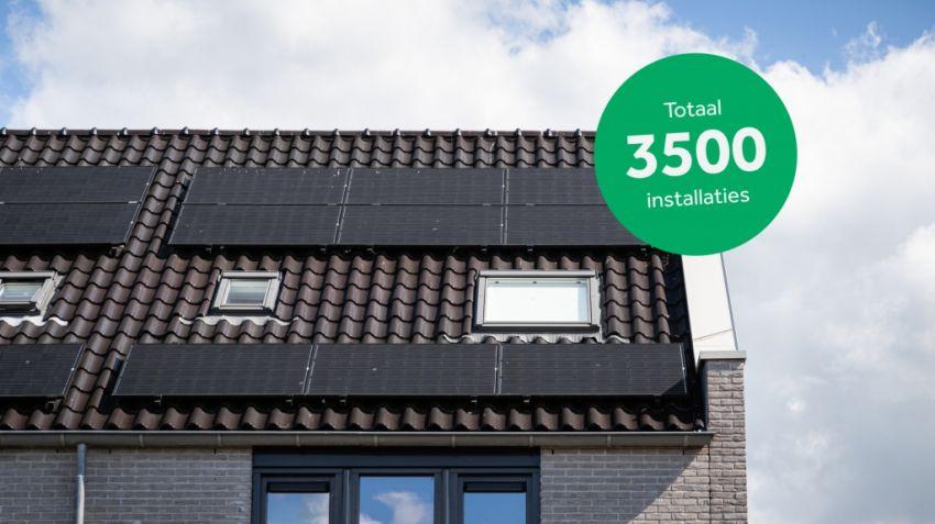 Zonneplan voorziet 3.500ste Bouwinvest-woning van zonnepanelen